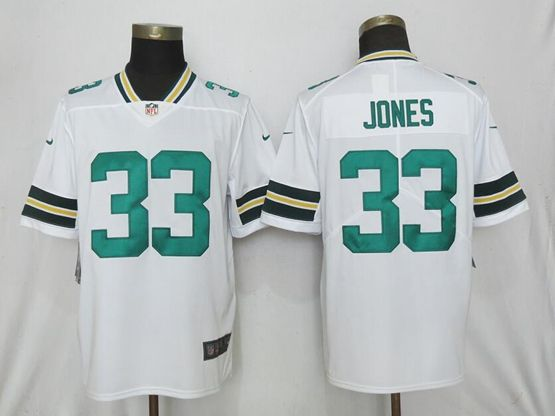Mens Nfl Green Bay Packers #33 Aaron Jones White Vapor Untouchable Limited Player Jersey