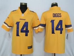 Mens Nfl Minnesota Vikings #14 Stefon Diggs Gold Nike Inverted Legend Vapor Untouchable Limited Jersey