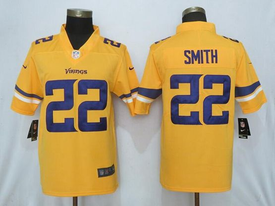 Mens Nfl Minnesota Vikings #22 Harrison Smith Gold Nike Inverted Legend Vapor Untouchable Limited Jersey