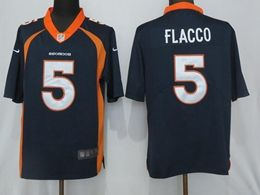 Mens Nfl Denver Broncos #5 Joe Flacco Blue Vapor Untouchable Limited Jersey