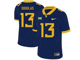 Mens Ncaa West Virginia University #13 Rasul Douglas Blue Nike Vapor Untouchable Limited Jersey