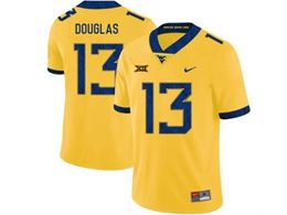 Mens Ncaa West Virginia University #13 Rasul Douglas Yellow Nike Vapor Untouchable Limited Jersey
