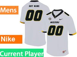 Mens Nacc Nfl Missouri Tigers Current Player White Vapor Untouchable Limited Football Jersey
