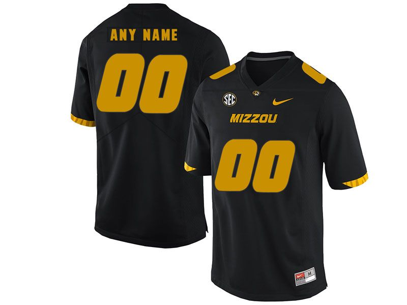 Mens Nacc Nfl Missouri Tigers Cusotm Made Black Vapor Untouchable Limited Football Jersey