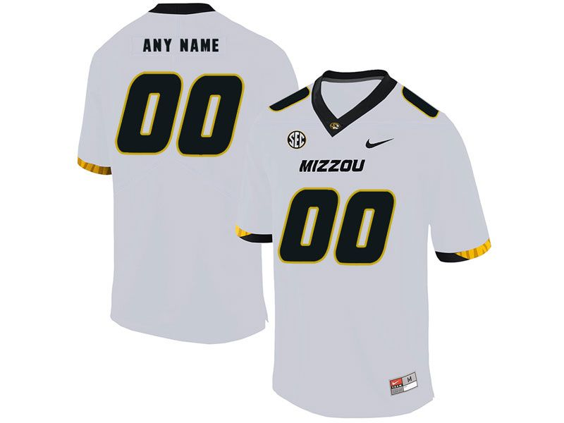 Mens Nacc Nfl Missouri Tigers Cusotm Made White Vapor Untouchable Limited Football Jersey