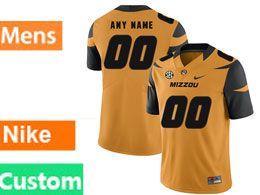 Mens Nacc Nfl Missouri Tigers Cusotm Made Gold Vapor Untouchable Limited Football Jersey