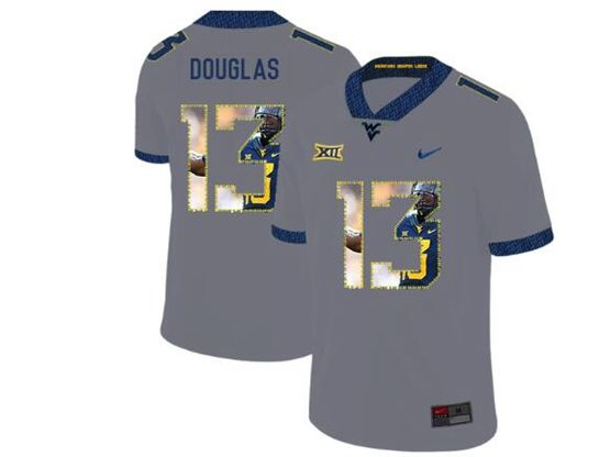 Mens Ncaa West Virginia University Current Player Gray Printed Fashion Nike Vapor Untouchable Limited Jersey