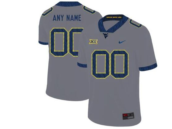 Mens Ncaa West Virginia University Current Player Gray Nike Vapor Untouchable Limited Jersey