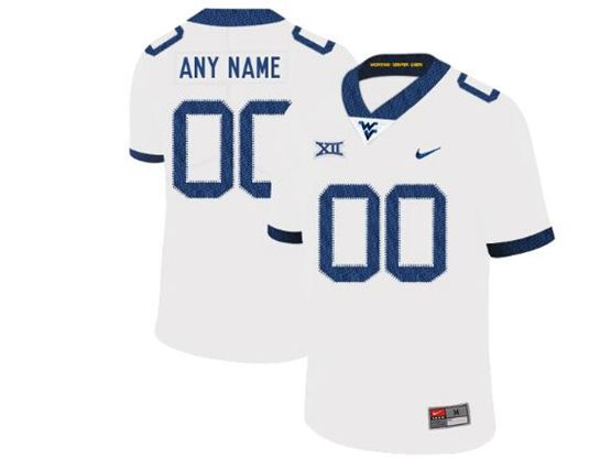 Mens Ncaa West Virginia University Custom Made White Nike Vapor Untouchable Limited Jersey