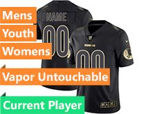 Mens Women Youth Nfl Washington Redskins Current Player Black Gold Vapor Untouchable Limited Jersey