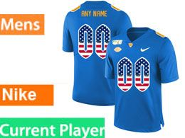 Mens Nacc Nfl Pittsburgh Panthers Current Player Blue Printed Usa Flag Nike Vapor Untouchable Limited Jersey