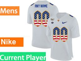Mens Nacc Nfl Pittsburgh Panthers Current Player White Printed Usa Flag Nike Vapor Untouchable Limited Jersey
