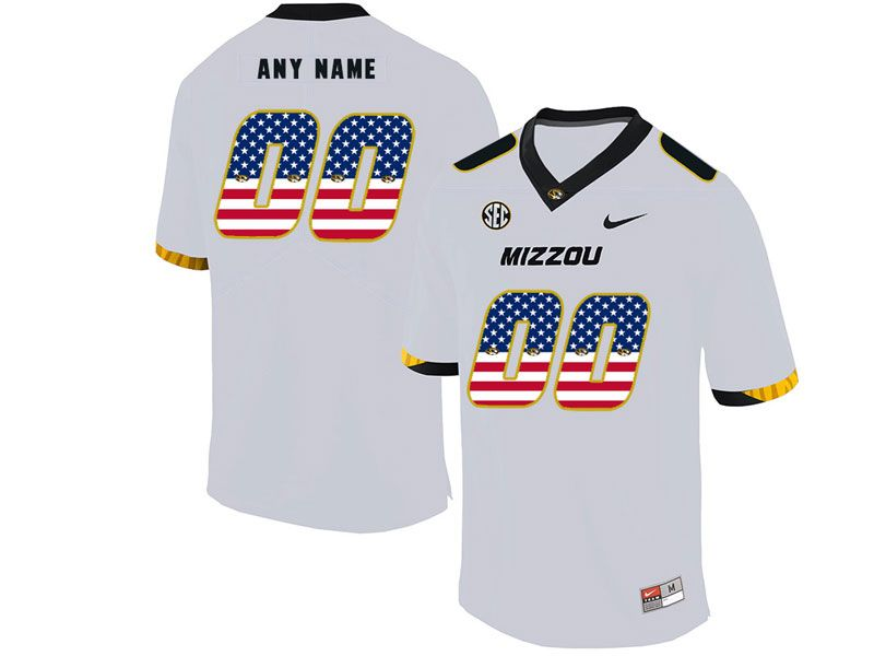 Mens Nacc Nfl Missouri Tigers Current Player White Printed Usa Flag Nike Vapor Untouchable Limited Jersey