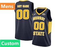 Mens Ncaa Nba Murray State Racers Custom Made Blue Nike Jersey