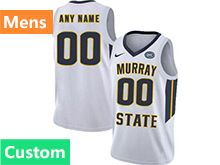 Mens Ncaa Nba Murray State Racers Custom Made White Nike Jersey