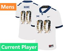 Mens Ncaa West Virginia University Current Player White Printed Fashion Nike Vapor Untouchable Limited Jersey