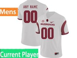 Mens Nike Ncaa Arkansas Razorbacks Current Player White Vapor Untouchable Limited Jersey