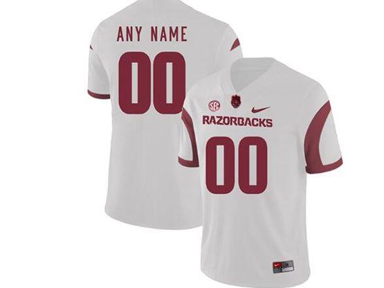 Mens Nike Ncaa Arkansas Razorbacks Current Player White Vapor Untouchable Limited Jersey