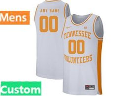 Mens Ncaa Nba Tennessee Volunteers Custom Made White Nike Jersey