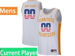 Mens Ncaa Nba Tennessee Volunteers Current Player White Printed Usa Flag Nike Jersey