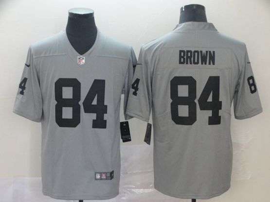 Mens Nfl Oakland Raiders #84 Antonio Brown Gray Nike Inverted Legend Vapor Untouchable Limited Jersey