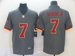 Mens Nfl Washington Redskins #7 Haskins Jr Gray Nike Inverted Legend Vapor Untouchable Limited Jersey