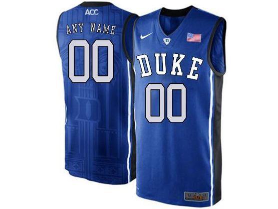 Mens Ncaa Nba Duke Blue Devils Current Player Blue Nike Acc Elite Jersey