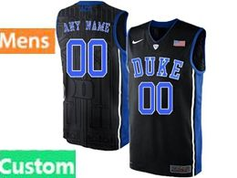Mens Ncaa Nba Duke Blue Devils Custom Made Black Nike Acc Elite Jersey