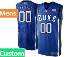 Mens Ncaa Nba Duke Blue Devils Custom Made Blue Nike Acc Elite Jersey
