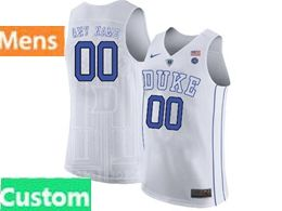 Mens Ncaa Nba Duke Blue Devils Custom Made White Nike Jersey