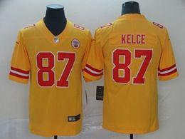 Mens Nfl Kansas City Chiefs #87 Travis Kelce Gold Nike Inverted Legend Vapor Untouchable Limited Jersey