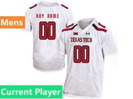 Mens Ncaa Texas Tech Current Player White Under Armour State Pride Football Jersey