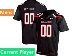 Mens Ncaa Texas Tech Current Player Black Under Armour State Pride Football Jersey