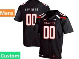 Mens Ncaa Texas Tech Custom Made Black Under Armour State Pride Football Jersey