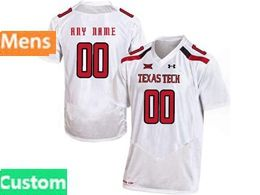 Mens Ncaa Texas Tech Custom Made White Under Armour State Pride Football Jersey