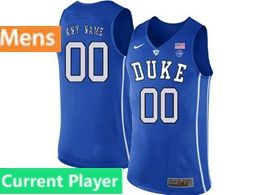 Mens Ncaa Nba Duke Blue Devils Current Player Blue Nike Jersey
