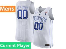 Mens Ncaa Nba Duke Blue Devils Current Player White Nike Jersey