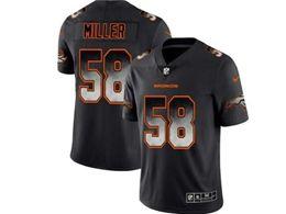 Mens Nfl Denver Broncos #58 Von Miller Pro Line Black Smoke Fashion Limited Jersey