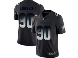 Mens Nfl Dallas Cowboys #90 Demarcus Lawrence Pro Line Black Smoke Fashion Limited Jersey