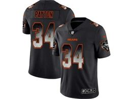 Mens Nfl Chicago Bears #34 Walter Payton Pro Line Black Smoke Fashion Limited Jersey