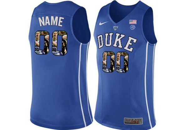 Mens Ncaa Nba Duke Blue Devils Current Player Blue Printed Nike Jersey