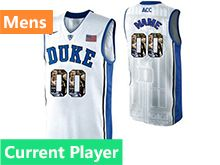 Mens Ncaa Nba Duke Blue Devils Current Player White Printed Nike Acc Elite Jersey