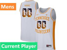 Mens Ncaa Nba Tennessee Volunteers Current Player White Printed Nike Jersey