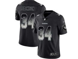 Mens Nfl Oakland Raiders #34 Bo Jackson Pro Line Black Smoke Fashion Limited Jersey