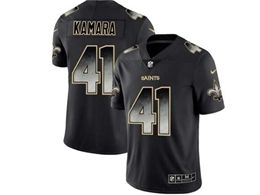 Mens Women Nfl New Orleans Saints #41 Alvin Kamara Pro Line Black Smoke Fashion Limited Jersey