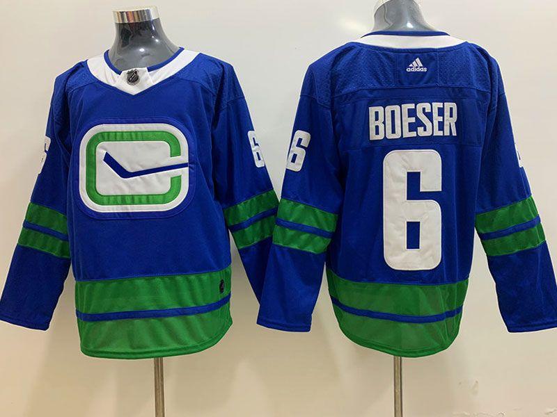 Mens Nhl 19-20 Vancouver Canucks #6 Brock Boeser Blue Adidas Alternate Jersey