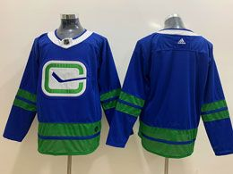 Mens Nhl 19-20 Vancouver Canucks Blank Blue Adidas Alternate Jersey
