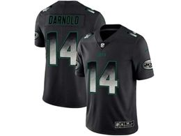 Mes Nfl New York Jets #14 Sam Darnold Pro Line Black Smoke Fashion Limited Jersey