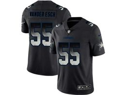 Mens Women Nfl Dallas Cowboys #55 Leighton Vander Esch Pro Line Black Smoke Fashion Limited Jersey