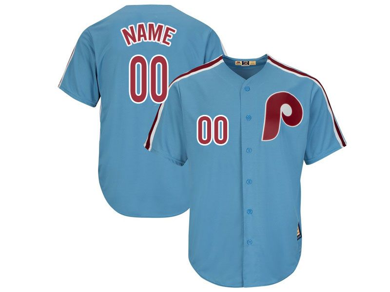 Mens Mlb Philadelphia Phillies Current Player Light Blue Cool Base Cooperstown Jersey
